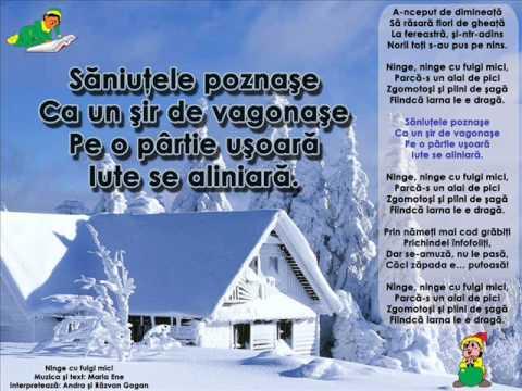 cantece de iarna si Craciun – Andra si Razvan Gogan – Ninge cu fulgi mici