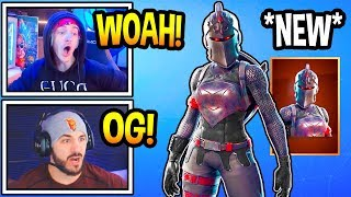 "Streamers React To 'OG' FEMALE ""BLACK KNIGHT"" Skin! (Moments Fortsnite)"