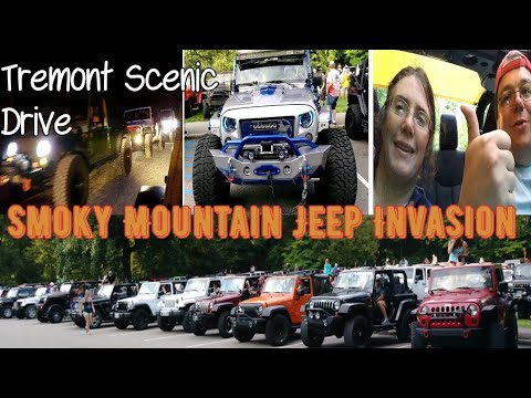 Smoky Mountain Jeep Invasion Tremont Scenic Trail Ride 2018 Youtube