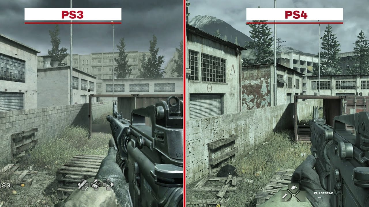 Call Of Duty 4 Modern Warfare Multiplayer Map Graphics Comparison
