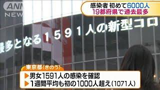 感染者が初めて6000人 19都府県で過去最多(2021年1月7日) - YouTube