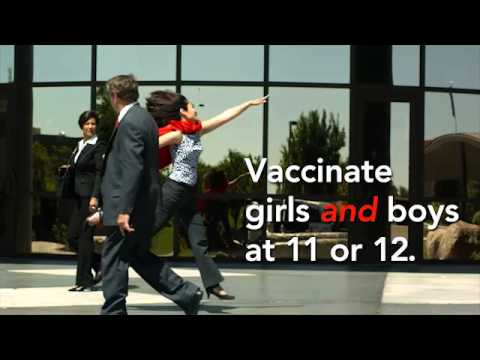 HPV vaccine for boys and girls age 11-12