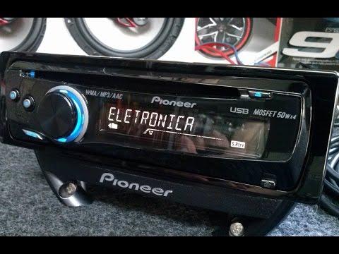 Pioneer Deh 5Ub Auto Radio Usb Traseiro Cd Mp3  c/ 2 saidas Rca p/ Subwoofer