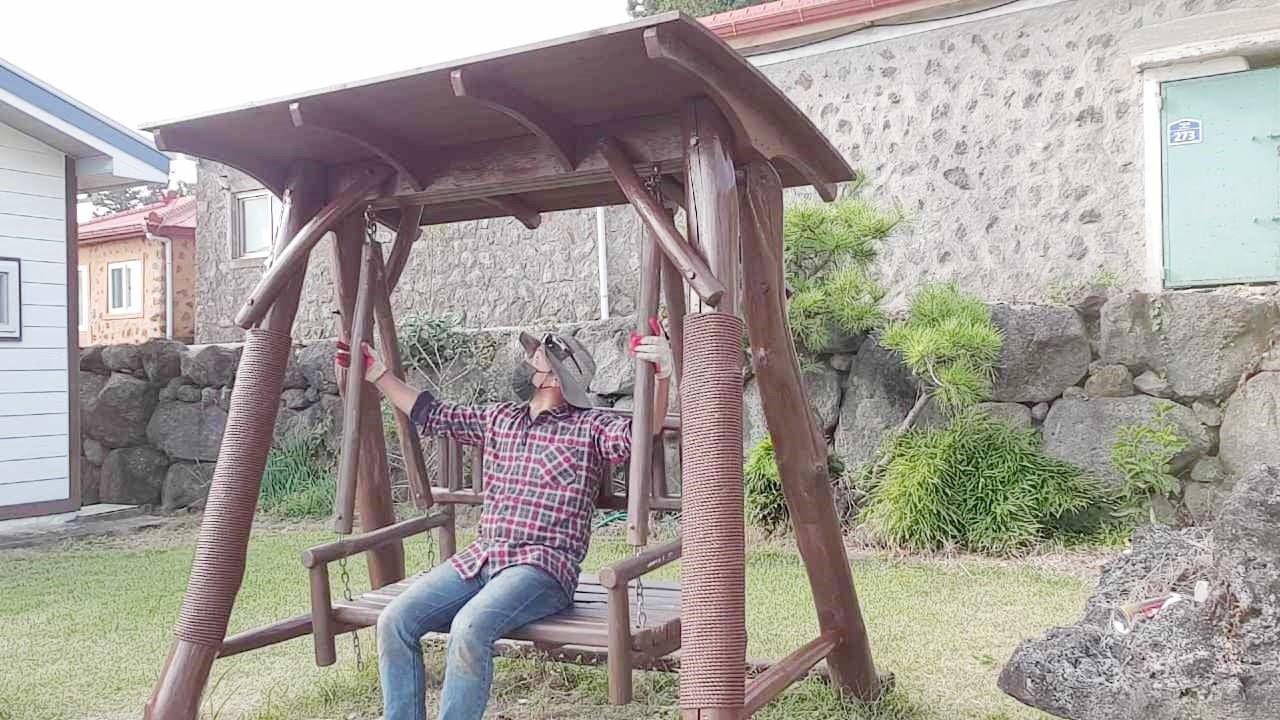 How to repair a rotten wooden swing  -- 썩은 그네 수리하는 방법