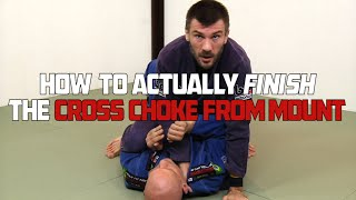 Rob Biernacki shows some details for finishing the cross choke from...