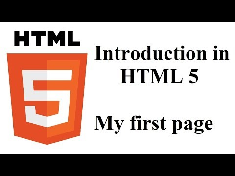 HTML Tutorial (part 1) - My first page