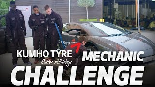 KUMHO TYRE MECHANIC CHALLENGE | HARRY WINKS, DAVINSON SANCHEZ, KYLE WALKER-PETERS & JUAN FOYTH