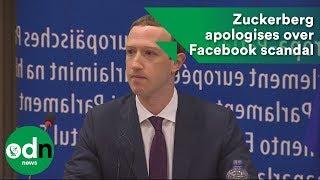 Mark Zuckerberg apologies over Facebook scandal
