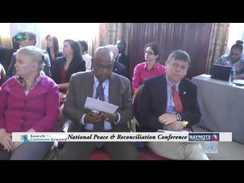 National Peace and Reconciliation Conference March 21 - 22 2018.