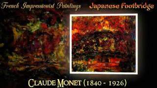 Claude Monet Japanese Footbridge Famous Impressionist Paintings | Video 31 Of 46