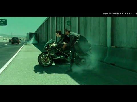 Download Matrix movie bike race action seen // bike race seen on doom song