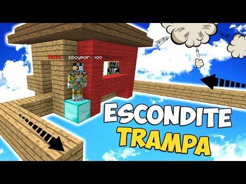 ESCONDITE EN UNA CASA TRAMPA | MINECRAFT TROLL
