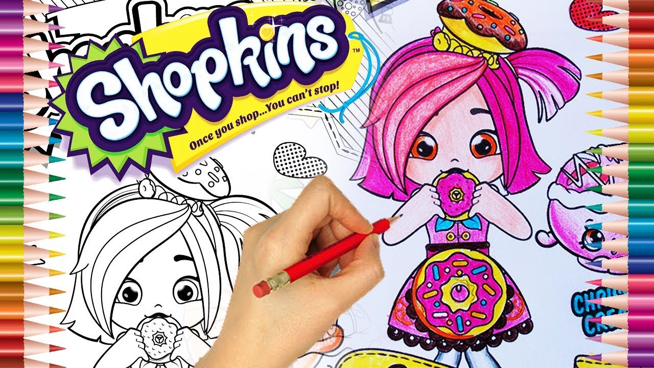 shopkins desenhos para colorir colorindo a donatina