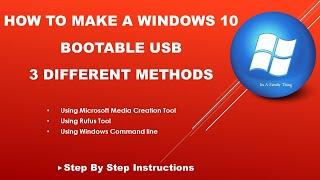 Windows 10 Bootable Usb Flash Drive | How To Create Windows 10 Bootable Usb Flash Drive 2019