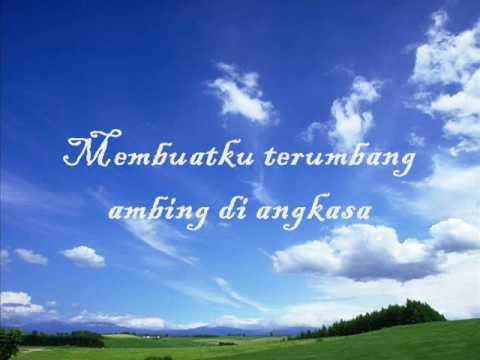 Angkasa with lyrics on the screen-Hady Mirza