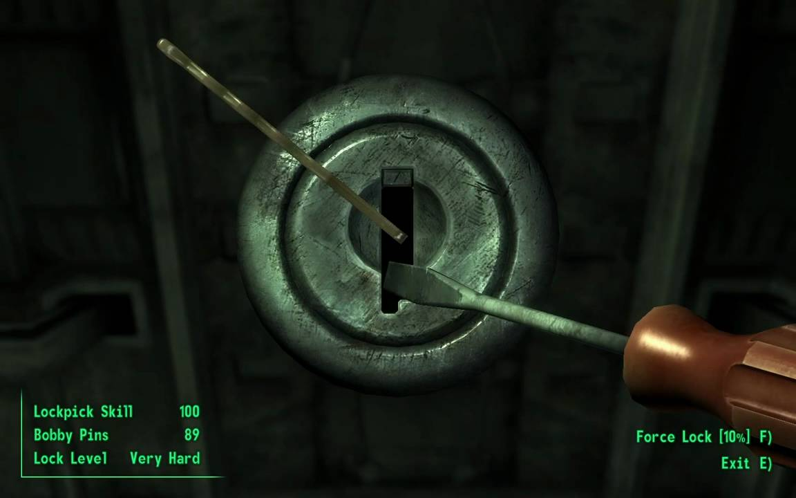 Fallout 3 T Amp T 018 Howto Lockpicking Youtube