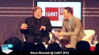 Steve Wozniak @ CeBIT 2014 - NSA, Snowden, Apple, Tim Cook (special guest Superman)