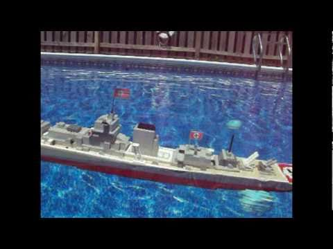 Lego Bismarck Model Sinking Youtube