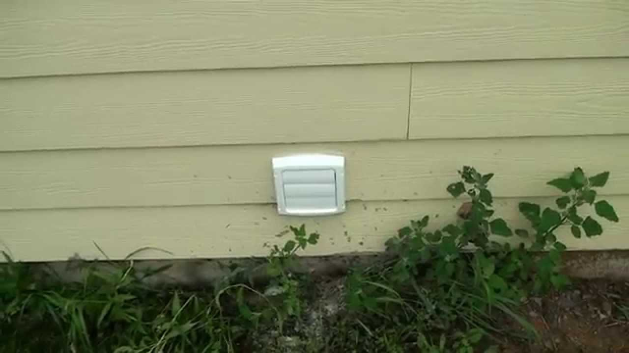 Venting a Basement Bathroom Fan Outside - YouTube