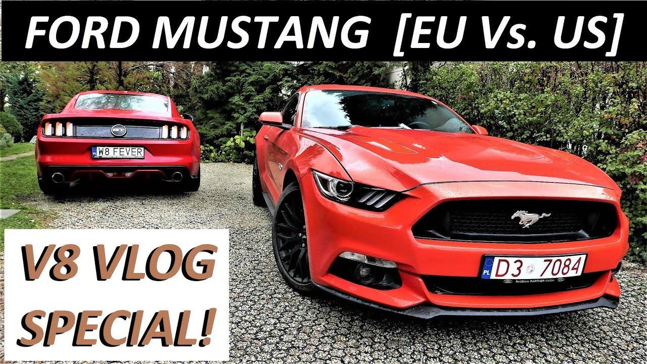 2 x 2017 ford mustang gt eu vs us corsa borla exhaust v8 vlog