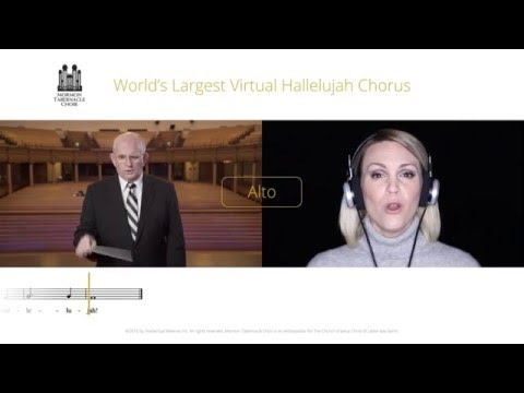 Alto Part for #Hallelujah Virtual Choir - Mormon Tabernacle Choir