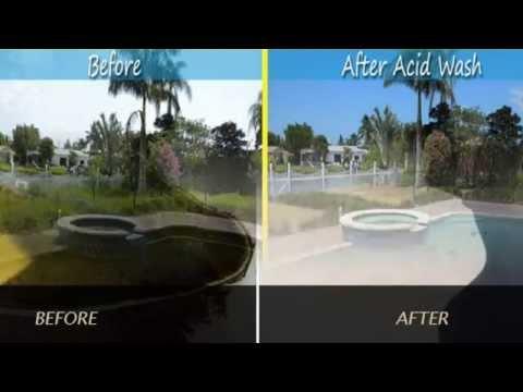 Pool Acid Wash Calabasas Swimming Plaster Cleaning Pebble Tec