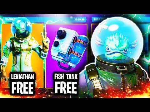 NEW FREE LEVIATHAN SKIN! NEW ITEM SHOP UPDATE! Fortnite: Battle Royale (PS4)
