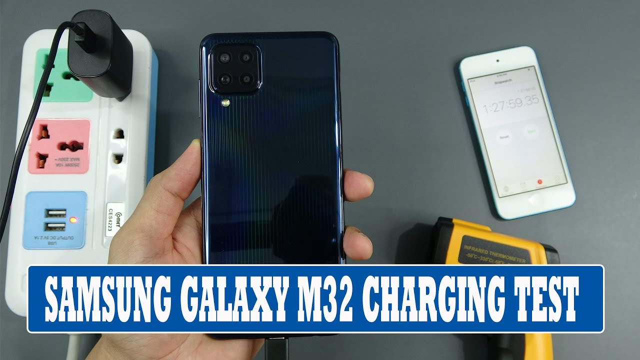Samsung Galaxy M32 with 25W charging from 0 to 100 percents