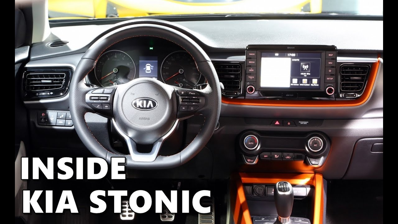2018 kia stonic interior tour youtube. Black Bedroom Furniture Sets. Home Design Ideas
