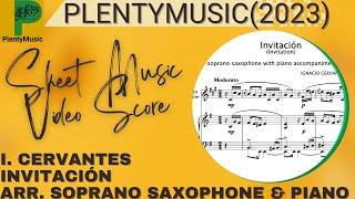 Cervantes I. | Invitación (Invitation) arranged soprano saxophone and piano