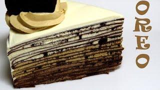 Шоколадный БЛИННЫЙ торт ОРЕО Торт без выпечки рецепт блинного торта