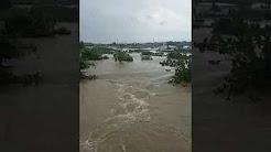 Heavy flow of water near aditya hyundai car showroom at Bhubaneswar, patrapada