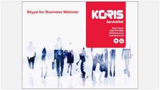 Koris | Skype for Business / Zylinc / UC Analytics Webinar
