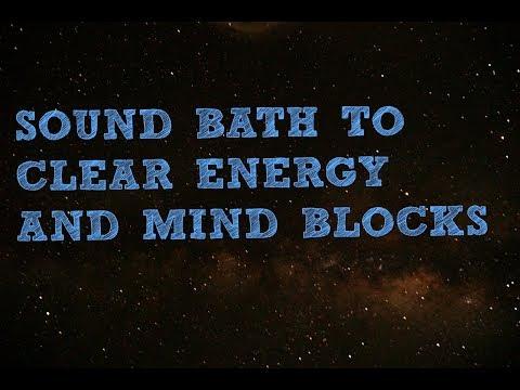Live SOUND BATH guided meditation, clear energy blocks, stress, agitation, mind chatter.
