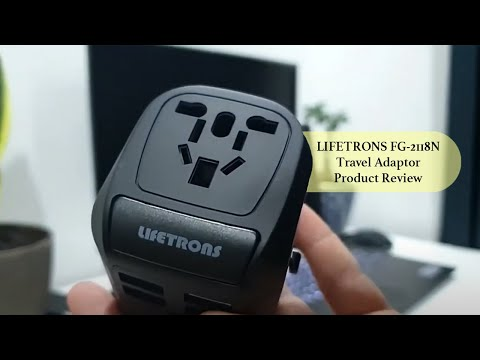 Lifetrons Switzerland Ultra Power Pro Travel Adaptor 4-USB Charge & Type C Cable FG-2118N-BK
