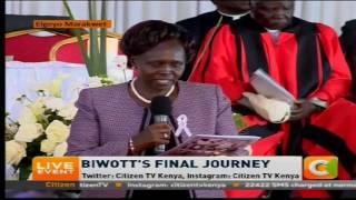 Margaret Kamar's tribute to Nicholas Biwott