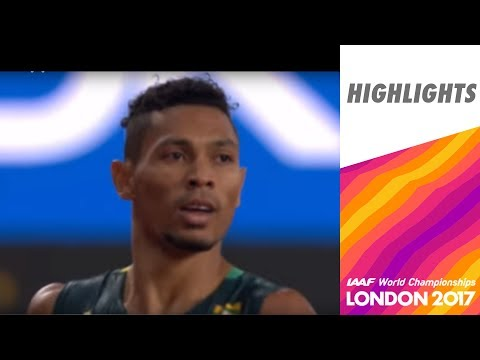 WCH London 2017 Highlights - 400m - Men - Final - Van Niekerk wins