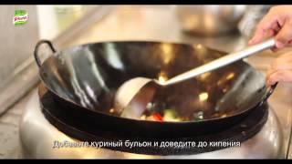 Острая лапша с креветками в устричном соусе. Способ приготовления