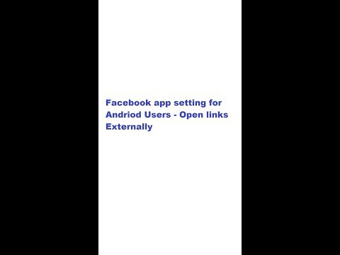 How to enable open links externally on facebook app - andriod users