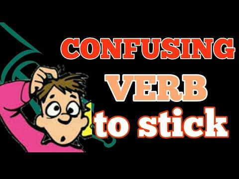 to stick a verb cel mai rapid leac pentru viermi