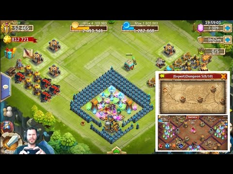 JT's Free 2 Play Getting 550 Flames To Evolve Heroes Expert Dungeon 5 Castle Clash