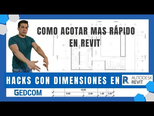 Como acotar mas rápido en Revit | Hacks con Dimensiones en Revit