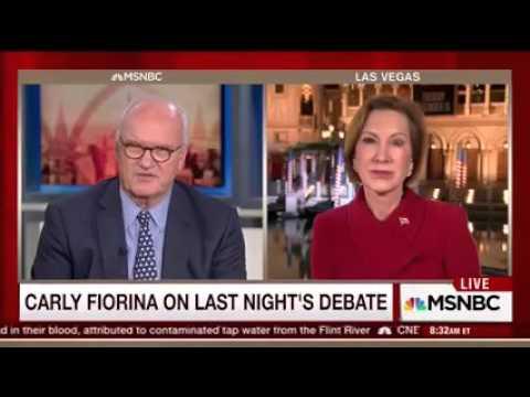 Carly Fiorina talking post #GOPDebate on Morning Joe