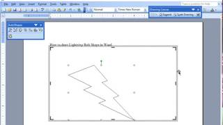 How to Draw Lightning Bolt Shape in MS Word