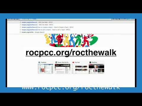 How to Create a Team for ROC the Walk