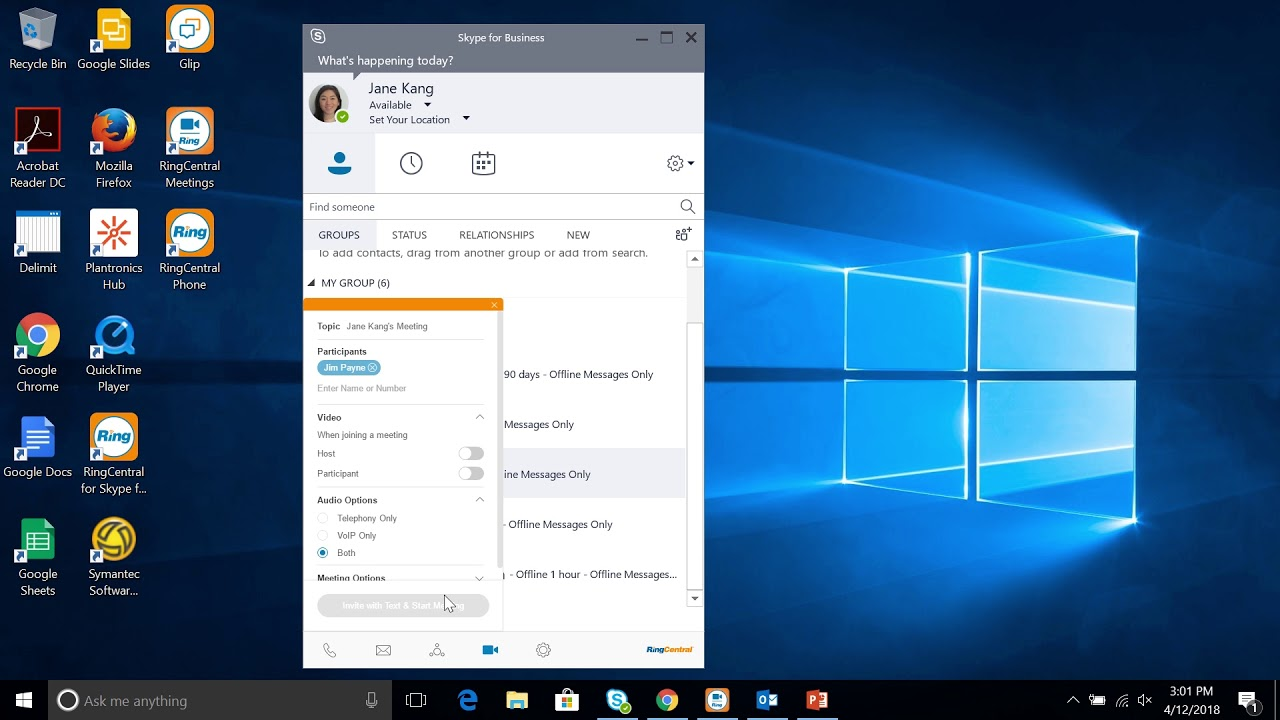 RingCentral for Skype for Business