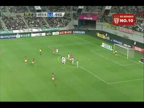 2009/10/14 Park Chu Young Free Kick - VS Senegal