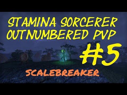 Stamina Sorcerer 1vX - Outnumbered PVP #5 - ESO Scalebreaker