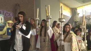Procesión Gamarra 2017. Oración de José Jiménez, previa salida procesional.