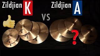 Which Cymbals RECORD Better? [Zildjian A's vs K's]